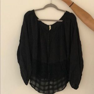Free people flowy black shirt